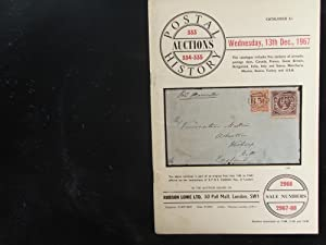 Wednesday, 13th Dec. 1967: Postal History Auctions 333, 334, 335