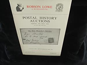 Postal history Auctions, Friday, 28th May, 1982 (Sale Nos. 475-76)