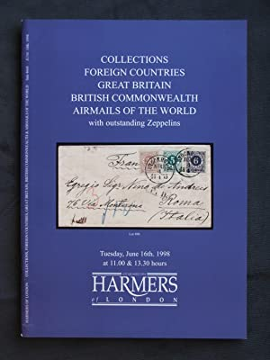 Catalogue of Collections: Foreign Countries, Great Britain, British Commonwealth, Airmails of the...