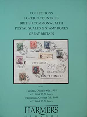 Catalogue of Collections, Foreign Countries with Egypt; France; Jordan etc, British Commonwealth ...