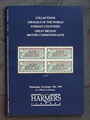 Catalogue of Collections; Airmails of the World; Foreign Countries; Great Britain; British Common...