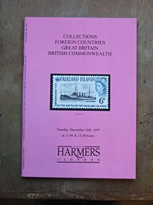 Catalogue of Collections, Foreign Countries, Great Britain, British commnwealth incl. the