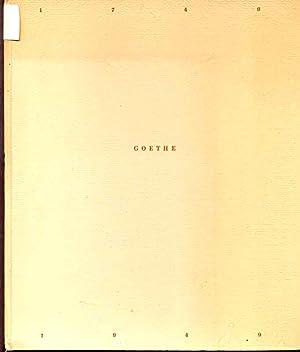 Goethe 1749- 1949 - Herausgegeben am 28.