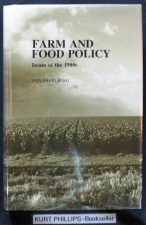 Farm and Food Policy: Issues of the 1980s