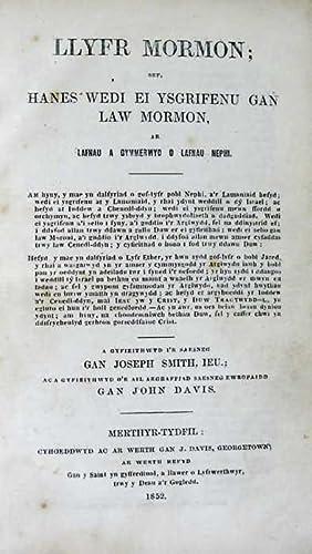 Llyfr Mormon; Sef, Hanes Wedi Ei Ysgrifenu: Smith, Joseph