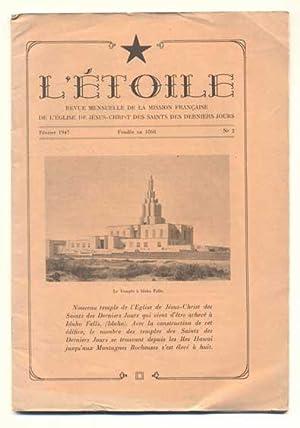 L'etoile: Revue mensuelle de la Mission francaise de l'Eglise de Jesus-Christ Des des ...
