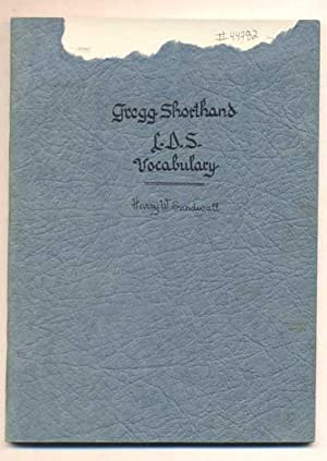 Gregg Shorthand L.D.S. Vocabulary: Sundwall, Harry W.