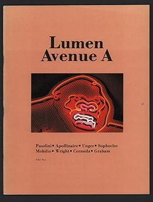 Lumen / Avenue A. Volume 1, Number: Ginsberg, Allen]; Jim