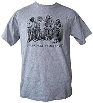 The Whole Gang T-Shirt - Grey (M); The Monkey Wrench Gang T-Shirt Series: Edward Abbey/R. Crumb
