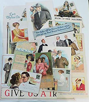 Collection of 18 beautiful advertising mailers for men's clothing made by J. L. Taylor, a subsidi...