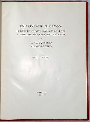 Juan Gonzales De Mendoza: Historia De Las Cosas Mas Notables, Ritos Y Costumbres Del Gran Reyno De ...