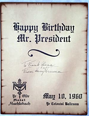 Happy Birthday Mr. President: Program from the Celebration of the President's 76th Birthday: ...