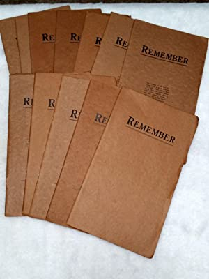 Remember, Volume One, Number One - Twelve (September 1908 - August 1909): Rhodes, Jeremiah Milton [...