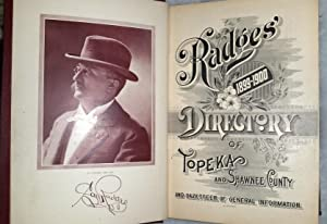 Radges' 1899-1900 Directory of Topeka and Shawnee County and Gazetteer of General Information