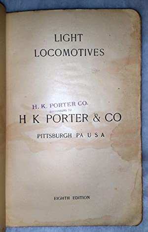 Light Locomotives (H K Porter & Co. / H. K. Porter Co. catalogue, Eighth Edition