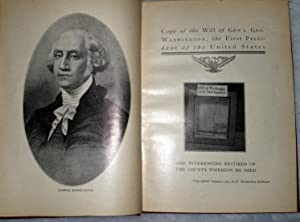 Copy of the Will of Gen'l Geo. Washington, the First President of the United States and ...