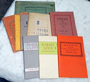 Poems to Live By (Incomplete Series with Eight of the Annual Publications)