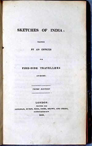 Sketches of India: Written By an Officer for Fire-Side Travellers At-Home: Sherer, Moyle]