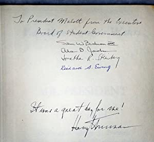 Far Above Cayuga's Waters: Mr. President at Cornell [Twice Signed By President Harry S. Truman...