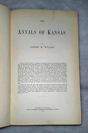 The Annals of Kansas: Wilder, Daniel W.