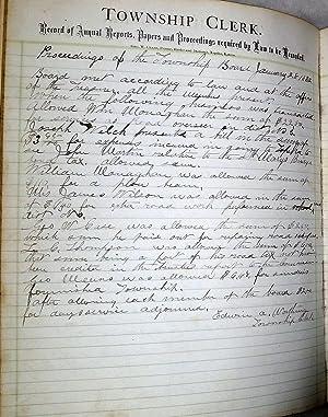 Township Clerk Ledger for Belvue Township, Pottawatomie County, Kansas , Book I [April 26th, 1879 -...