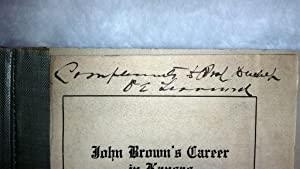 John Brown's Career in Kansas: Paper Prepared for the Veterans of '56: Learnard, O. E. [...