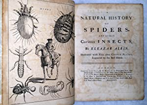 A Natural History of Spiders, and Other Insects: Albin, Eleazar