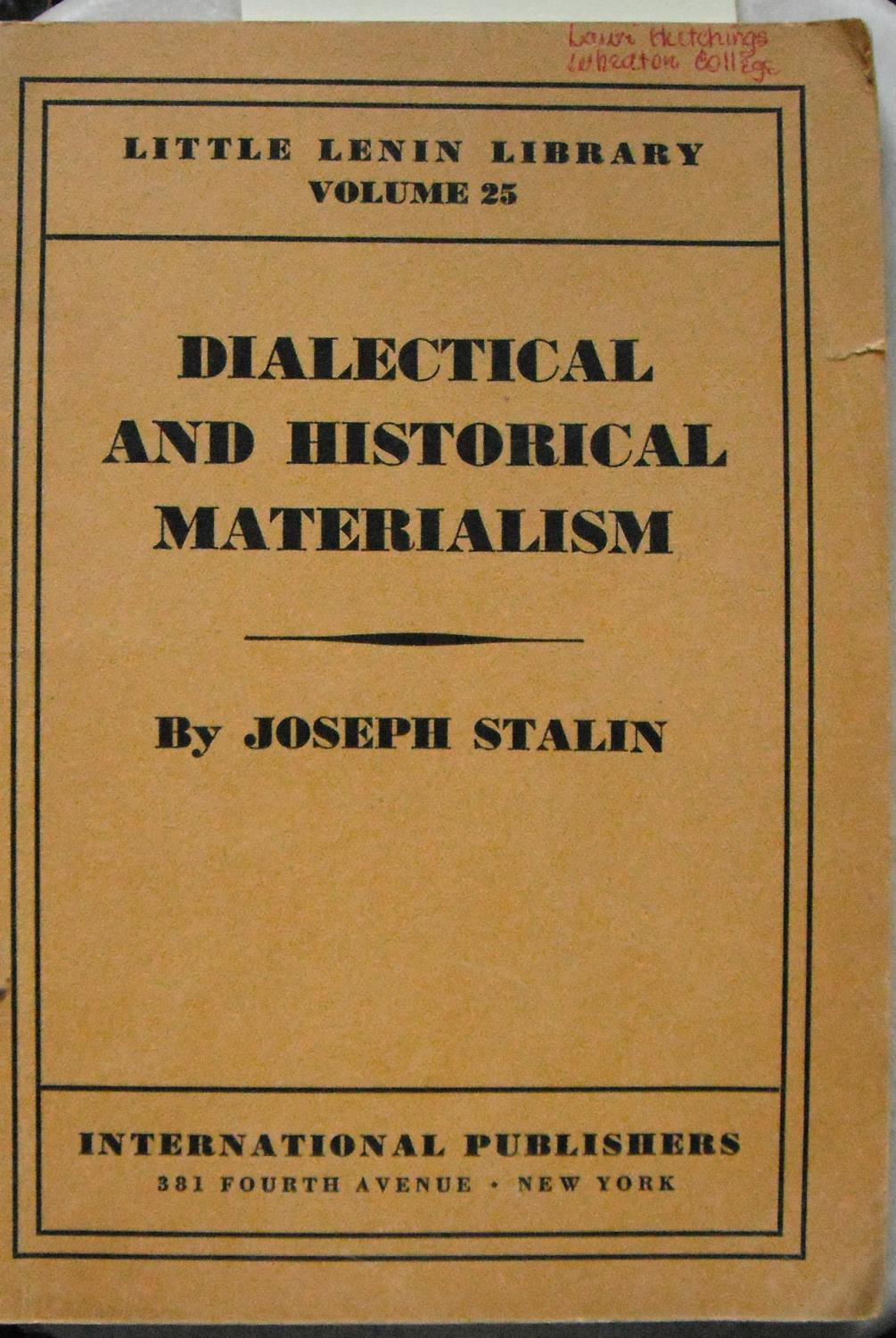 concept of historical materialism