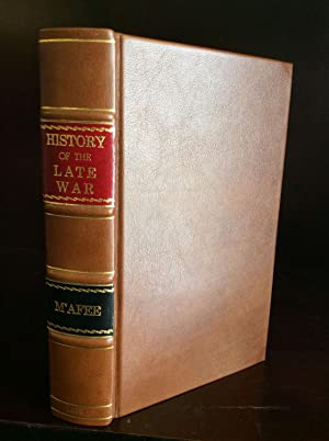 HISTORY OF THE LATE WAR IN THE WESTERN COUNTRY.: Robert McAfee].