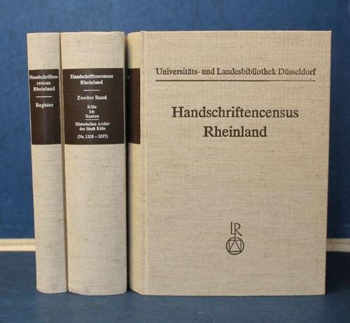 Handschriftencensus Rheinland Erfassung mittelalterlicher Handschriften im rheinischen: Gattermann (Hg.), Günter