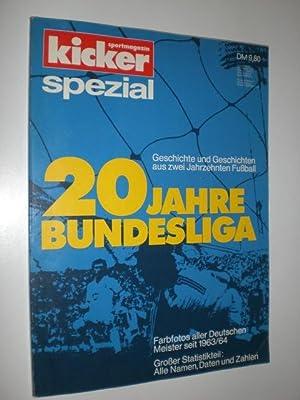 Kicker spezial. 20 Jahre Bundesliga. Geschichte und: HEIMANN, Karl-Heinz (Redaktioen)