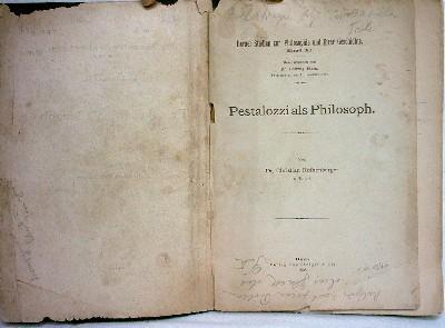 Pestalozzi als Philosoph.: Rothenberger, Christian: