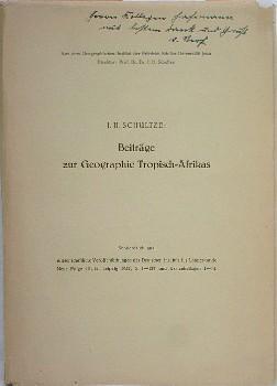 Beiträge zur Geographie Tropisch-Afrikas. Erläuterungen zu einer: Schultze, J. H.: