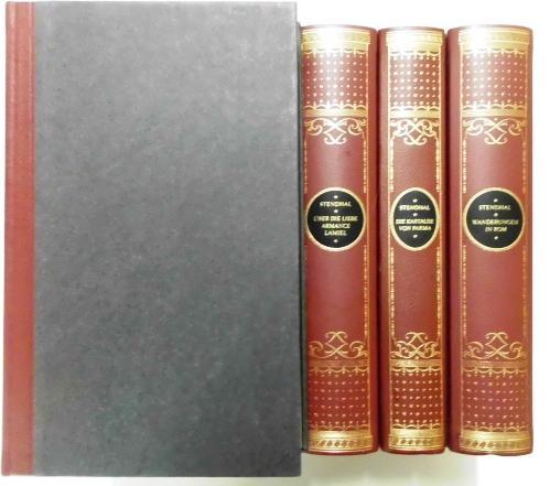 """Stendhal Werke - 1-7 Bände - Stendhal (d.i. Henri Beyle) - Enthält: """"""""Chroniken und Novellen"""""""", """"""""Wanderungen in Rom"""""""", """"""""Die Kartause von Parma"""""""", """"""""Über d"""