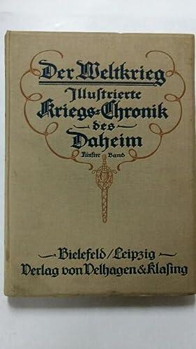 Der Weltkrieg. Illustrierte Kriegs-Chronik des Daheim, Fünfter: Hoetzsch, Prof. Dr.