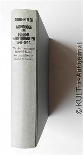 Adolf Hitler - Monologe im Führerhauptquartier 1941: Jochmann, Werner (Hrsg.)