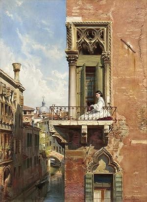 Ludwig Passini: Anna Passini auf dem Balkon: Ludwig Passini (1832