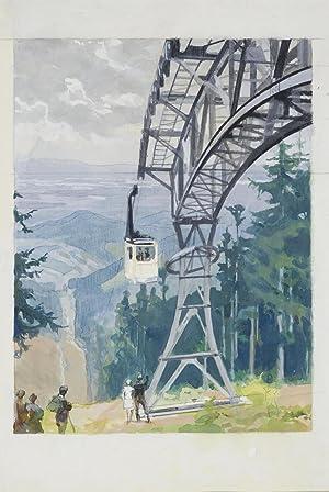 Heinrich Kley: Die Schauinslandbahn bei Freiburg im: Heinrich Kley (1863