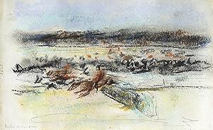 Max Liebermann: Pferderennen in den Cascinen (Originalzeichnung): Max Liebermann (1847