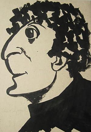 Günther Katzke: Porträt Marc Chagall (Originalzeichnung): Günther Katzke