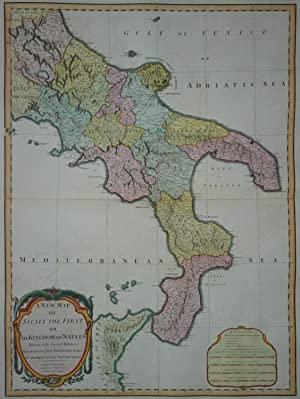 A New Map of Sicily The First or the Kingdom of Naples