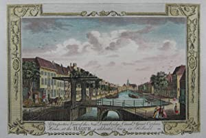 A Perspective View of the New Drawbridge, Canal & Great Orphan House, at the Hague, a celebrated ...