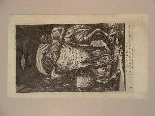 Titelblatt zu Dr. J. Jonstons `Beschreibung .: Merian, Matthäus d.