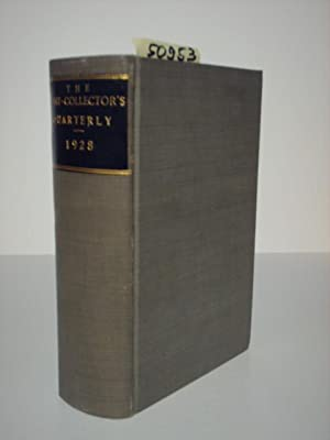 The Print-Collector`s Quarterly. Contents of vol. 15,: Dodgson, Campbell (Edit.):