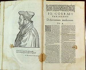 Definitionum medicarum libri XXIIII (.).: Gorraeus, Joannes ; Jean de Gorris