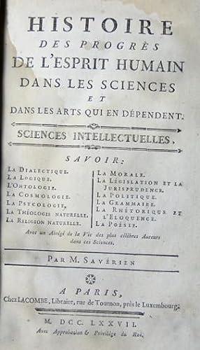 Histoire des progrès de l'Esprit Humain dans: Savérien M.