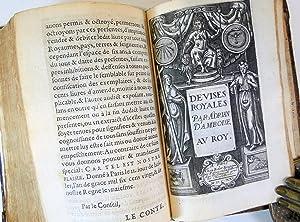 Devises heroiques et emblemes de M. Claude Paradin. Reueuës & augmentées de moiti&...