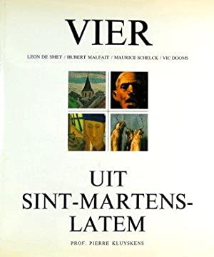Vier uit Sint-Martens-Latem. Leon De Smet, Hubert: Kluyskens Pierre