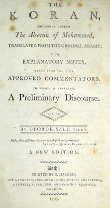 The Koran, Commonly called The Alcoran of: Sale George