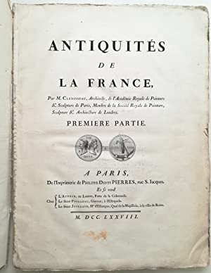 Antiquités de la France. Premier partie (all published). Komplett!